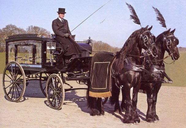 horse drawn carriage funeral service
